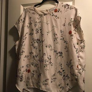 MM Lafleur Tops - MM Lafleur Didion Blouse Shirt Top L Wildflower